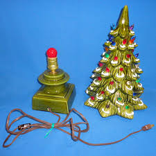 ceramic christmas tree base star topper light cord switch colored