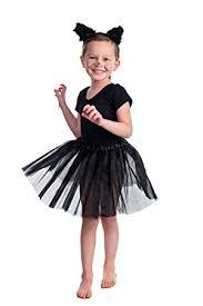Fluffy Halloween Costumes Black Cat Dress Sets Fancy Dress Sets Fluffy Cat Ears