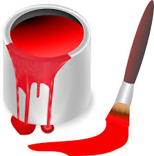 red paint red paint brush and can clip art at clker com vector clip art
