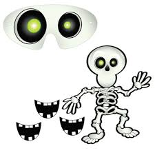 halloween party online halloween party game pin the smile on the skeleton by amscan