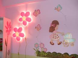 cute kids room wall painting with fish pictures ideas bedroom