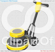 Picture Of Floor Buffer clipart of a floor polisher buffer machine royalty free vector