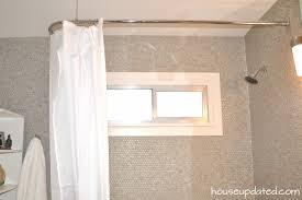 Large Shower Curtains Decorating Polished Chrome Shower Curtain L Rod 700x466
