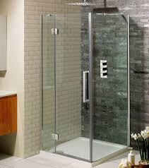 simpsons ten hinged shower door with inline panel uk bathrooms