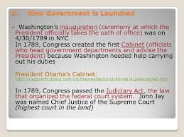 who was in washington s cabinet i george washington as president ppt download