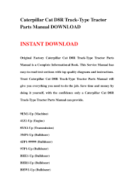 caterpillar cat d8r track type tractor parts manual download
