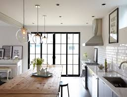single pendant lighting over kitchen island beautiful kitchen with large clear glass bell jar pendants over