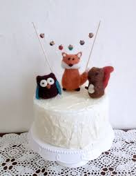 squirrel cake topper animal baby shower 1st birthday cake topper smash cake larger baby