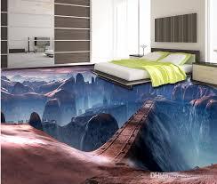 3d flooring 3d floor murals custom wallpaper for walls 3 d bridge