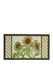 Sunflower Rugs Bacova Sunflower Frame Kitchen Accent Rug Belk