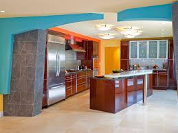 Flat Kitchen Cabinets Kitchen Style Colorful Asian Modern Kitchen Design Brown Flat