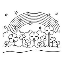 20 free printable leaf clover coloring pages