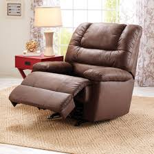 deluxe recliner chair lazy boy lounge seat brown leather living