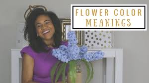 the meaning of different color flowers youtube