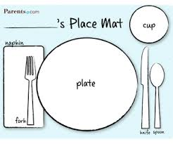 kids placemats printable table setting place mats