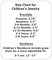 girl necklace size images Size chart for children 39 s jewelry jewelry components jpg