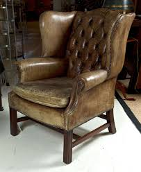 Western Leather Chair Leather Wingback