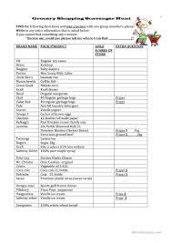 14 free esl scavenger hunt worksheets