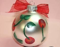 cherry ornament etsy
