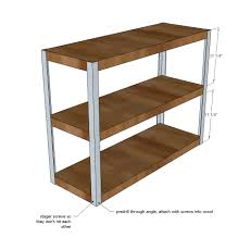 Anna White Bookcase by Ana White Easiest Industrial Cart Diy Projects
