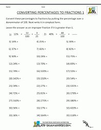 fraction bar worksheetdecimals fractions and percentages worksheet