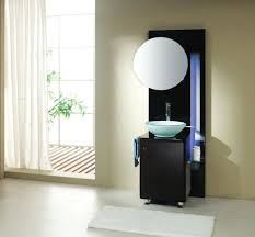 Narrow Bathroom Sink Vanity Bathroom Modern Small Black Bathroom Vanity Designed With Blue