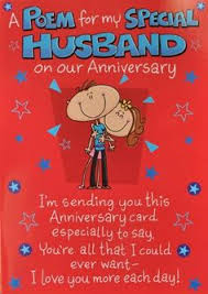happy anniversary to my husband card finished luxury