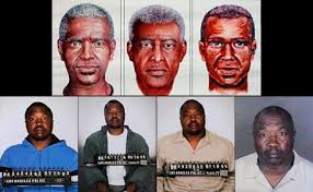 identikit of criminals and their real photos