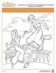 aladdin coloring pages princess jasmine pet tiger
