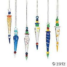 12 fancy colorful glass icicle ornaments