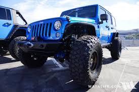 blue jeeps 2017 sema currie blue jeep jk wrangler unlimited