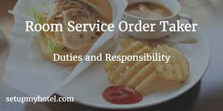 Room Service Order Taker  In Room Dining Order Taker Duties And - Dining room supervisor job description