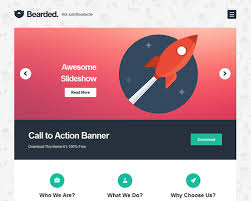 bearded free wordpress theme for portfolio and apps