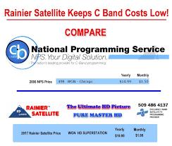 c band programming info rainier satellite