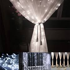 curtain lights 9 8 9 8ft daylight white 8 modes led curtain lights for weddings le