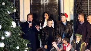 downing street christmas tree lights get the x factor bbc news