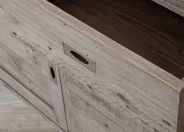 reclaimed wood black olive 7 drawer sideboard