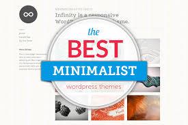 60 best minimalist wordpress themes 2017