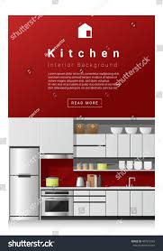 interior design modern kitchen vector stock vector
