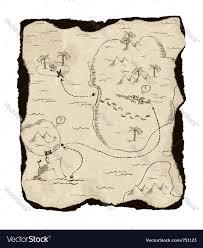 old treasure map royalty free vector image vectorstock