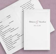 wedding programs paper white pearl program paper couture bridal
