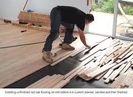 stylish installing unfinished hardwood floors pre finished vs site