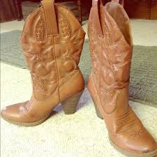light colored cowgirl boots shoes light brown leather target cowgirl boots poshmark