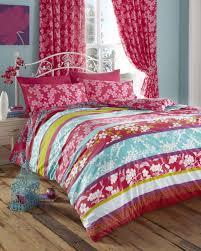 super king size duvet cover set pink u0026 teal oriental flowers