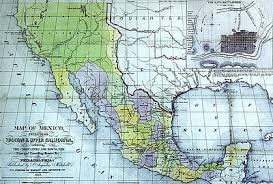 map of mexico and california alta california