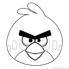 angry birds coloring pages kids printable 18 cartoon