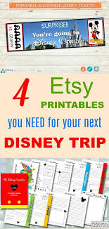printable disney planning guide 4 etsy printables you need for your next disney vacation kids