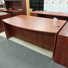 Computer Desk San Diego Bow Front Office Desk Cherry Laminate Computer Desk Wt Pedestal