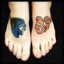marlin tattoo kuta dory and marlin disney tattoos photo finding nemo was also one of