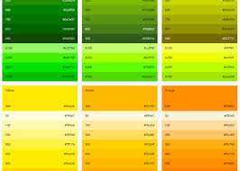 hex color yellow color how does one generate a palette similar to the ones in